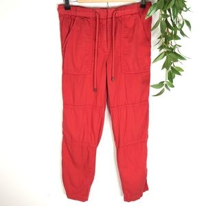 J. Crew Red-Orange Slouchy Skinny Jogger Pants